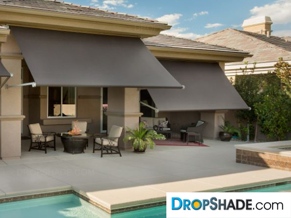 Retractable Cafe Awning To Patio Shade