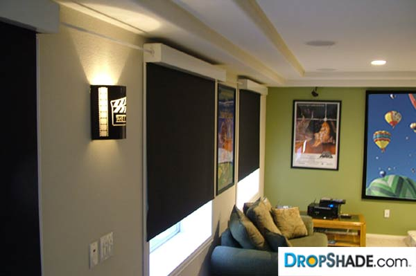 Interior Drop Shades Retractable Solar Window Treatments
