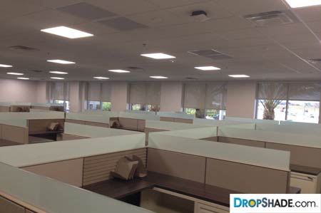 Office Shades Retractable Sun And Solar Control Drop Shade