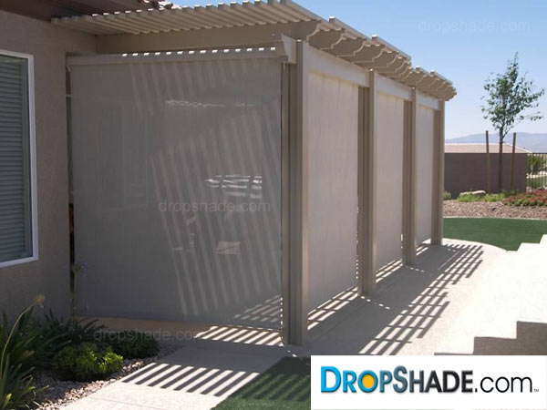 retractable drop motorized images exterior shades patio shade dropshade
