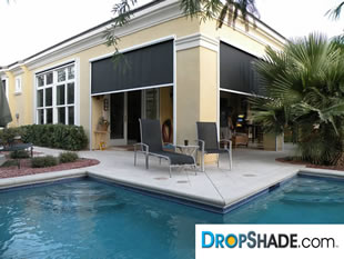 Marvelous Patio Drop Shade Images